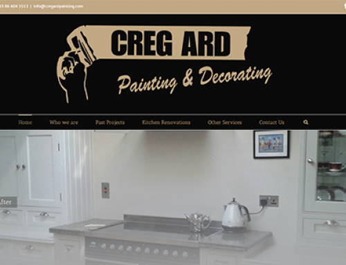 New site launch – Cregard Painting!